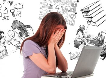 overwhelm and burnout picture of woman
